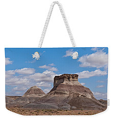 Weekender Tote Bag featuring the photograph Arizona Desert And Mesa by Jeff Goulden