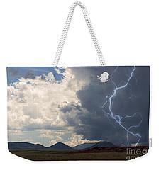 Arizona Desert Lightning  Weekender Tote Bag by Janice Rae Pariza