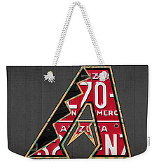 Arizona Diamondbacks Baseball Team Vintage Logo Recycled License Plate Art Weekender Tote Bag