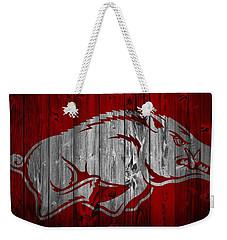 Arkansas Razorbacks Barn Door Weekender Tote Bag by Dan Sproul