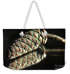 Armored Pine Cone Weekender Tote Bag