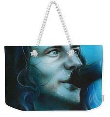 Eddie Vedder - ' Arms Raised In A V ' Weekender Tote Bag by Christian Chapman Art