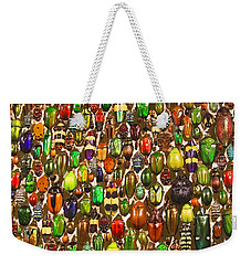 Weekender Tote Bag featuring the photograph Army Of Beetles And Bugs by Brooke T Ryan