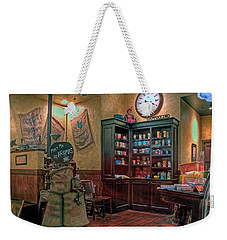 Weekender Tote Bag featuring the photograph Aromas Coffee Shop Newport News Virginia by Jerry Gammon