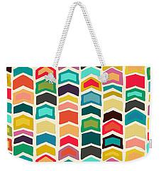 Arrow Pop Ivory Art Weekender Tote Bag