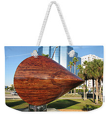 Weekender Tote Bag featuring the photograph Art 2009 At Sarasota Waterfront by Christiane Schulze Art And Photography