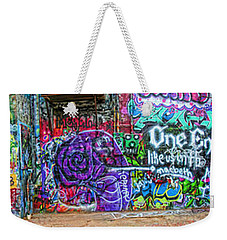 Art Alley Panorama Weekender Tote Bag