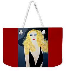 Art Deco Girl With Black Hat Weekender Tote Bag