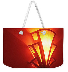 Weekender Tote Bag featuring the photograph Art Deco Light Fox Tucson Arizona  Theater  2006 by David Lee Guss
