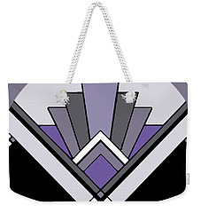 Art Deco Pattern Two - Purple Weekender Tote Bag