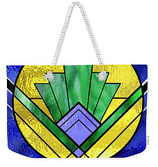 Art Deco - Pattern Two - Yellow Circle Weekender Tote Bag