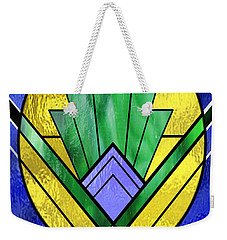 Art Deco - Pattern Two - Yellow Oval  Weekender Tote Bag