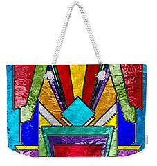 Art Deco - Stained Glass 6 Weekender Tote Bag