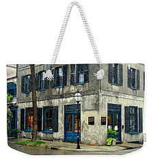 Weekender Tote Bag featuring the photograph Art Gallery In The Rain by Rodney Lee Williams