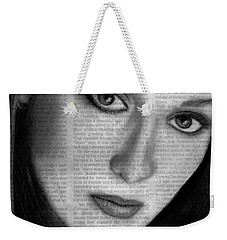 Art In The News 34- Meryl Streep Weekender Tote Bag