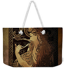 Art Nouveau Job - Masquerade Weekender Tote Bag by Absinthe Art By Michelle LeAnn Scott