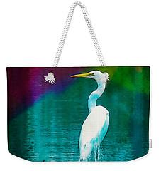 Art Of The Egret Weekender Tote Bag