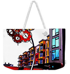 Weekender Tote Bag featuring the photograph Art On The Ave by Sadie Reneau