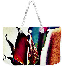 Weekender Tote Bag featuring the photograph Artful Bud by Faith Williams