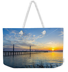 Calm Waters Over Charleston Sc Weekender Tote Bag by Dale Powell
