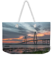 Weekender Tote Bag featuring the photograph Orange Nebulous by Dale Powell
