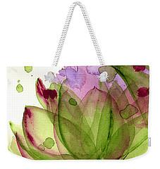 Artichoke Flower Weekender Tote Bag by Dawn Derman