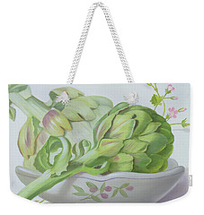 Artichokes Weekender Tote Bag by Lizzie Riches