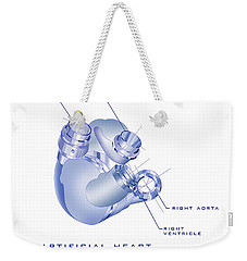Artificial Heart Weekender Tote Bag
