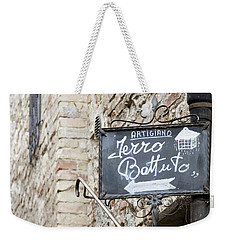 Weekender Tote Bag featuring the photograph Artigiano - Tuscany by Lisa Parrish