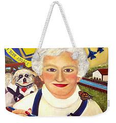 Artist At Work Portrait Of Mary Krupa Weekender Tote Bag