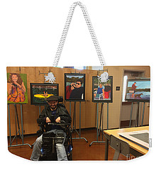 Weekender Tote Bag featuring the photograph Artist With Lake Series by Donald J Ryker III