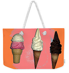 Artistic Ice Cream Weekender Tote Bag