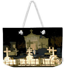 Weekender Tote Bag featuring the photograph Louisiana Midnight Cemetery Lacombe by Luana K Perez