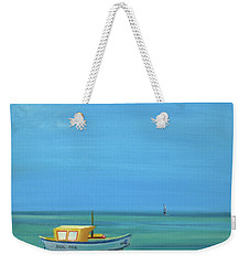 Weekender Tote Bag featuring the painting Aruba by Donna Tuten