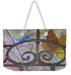 Weekender Tote Bag featuring the mixed media As It Comes 2 by Malinda  Prudhomme