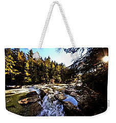 As Lawrence Welk Used To Say-ah Waterfall Waterfall Weekender Tote Bag by Robert McCubbin