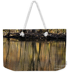 As Through A Leafless Landscape Flows A River Weekender Tote Bag