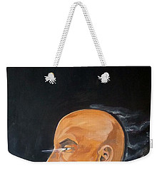 Weekender Tote Bag featuring the painting As Vapor Gutural by Lazaro Hurtado