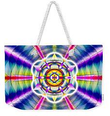 Weekender Tote Bag featuring the drawing Ascending Eye Of Spirit by Derek Gedney