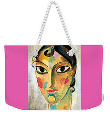 Weekender Tote Bag featuring the painting Ascona Head 10 by Pg Reproductions