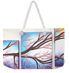 Asian Bloom Triptych Weekender Tote Bag