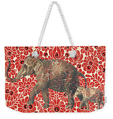 Asian Elephant-jp2185 Weekender Tote Bag by Jean Plout