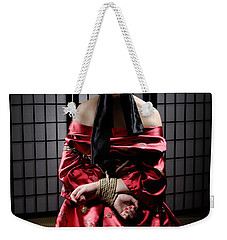 Asian Woman With Her Hands Tied Behind Her Back Weekender Tote Bag