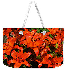 Asiatic Lily Weekender Tote Bag by Sue Smith