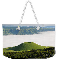 Weekender Tote Bag featuring the photograph Aso Komezuka Sea Of Clouds Cloud Kumamoto Japan by Paul Fearn