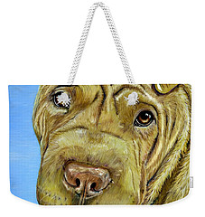 Beautiful Shar-pei Dog Portrait Weekender Tote Bag