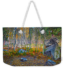 Weekender Tote Bag featuring the photograph Aspen Grove by Jim Thompson