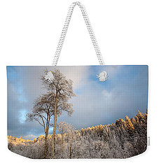 Aspen In Blue Weekender Tote Bag