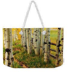 Aspen Path Weekender Tote Bag by Ronda Kimbrow