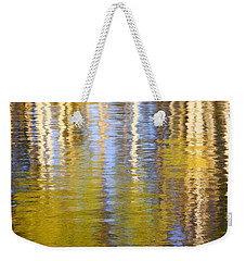Weekender Tote Bag featuring the photograph Aspen Reflection by Kevin Desrosiers